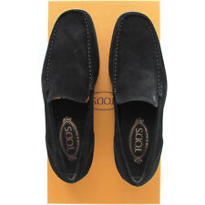 Tod's TODs men italian luxury classic black suede loafers shoes moccasins $470