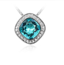Women Fashion Charm Jewelry Chain Pendants Austrian Crystal Necklace - Treasure