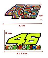 "New Motorcycle Helmet Decal Car Sticker Vinyl VR46 Valentino Rossi ""The Doctor"""