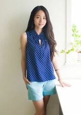 **NEW** J Crew 100% Silk Polka-Dot Truffle Top sz 4