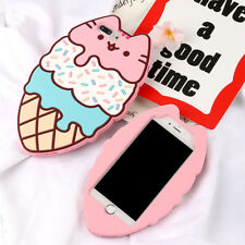 Sweet Lovely 3D Soft Cute Pink Cat Case Silicone Cover For iPhone 6/6S/7/8 Plus