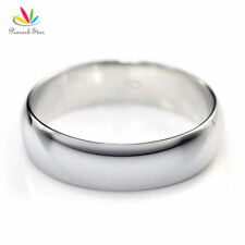 High Polished Men Solid 925 Sterling Silver Wedding Band Ring Jewelry