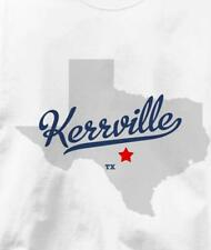 Kerrville, Texas TX MAP Souvenir T Shirt All Sizes & Colors