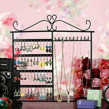 (From US) 10 Hooks 48 Holes Jewelry Display Rack Holder Stand Earrings Necklace