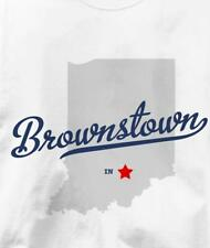 Brownstown, Indiana IN MAP Souvenir T Shirt All Sizes & Colors