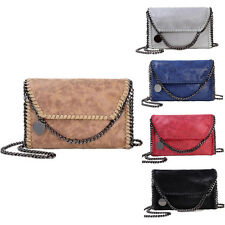 Women Chain Handbags Leather Shoulder Bag Woven Messenger Bag Tote Purse New