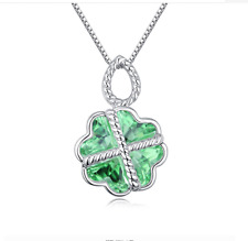 Women Fashion Charm Jewelry Chain Pendants Austrian Crystal Necklace-Dependent