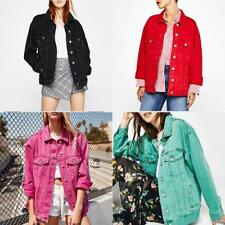 Ladies Vogue Loose fit Coat Retro Oversize Cowboy Denim Loose Casual Jacket Coat