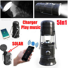 Collapsible Solar Outdoor Rechargeable Camping Lantern Light LED Hand Lamp OE