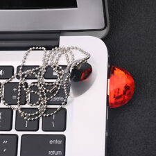 Crystal Jewelry USB Flash Drive Pendrive w/ Necklace Water Droplets Shape