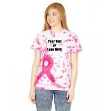 Custom Designed Personalized Tie Dye Breast Cancer Awareness T-shirts
