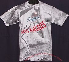 Vintage 1990 LA Los Angeles DODGERS JOSTENS T-Shirt ALL OVER PRINT NEW Old Stock