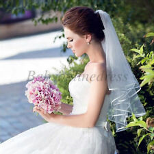 New 2T White/Ivory Elbow Length Bridal Veil Wedding Veil Accessories With Comb