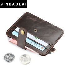 Wallet Credit Card Holder Mini Men Leather ID Case Purse Bag Pouch