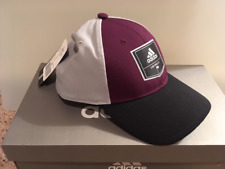 NWT Adidas Golf Patch Trucker Hat Adjustable OSFM Red Night