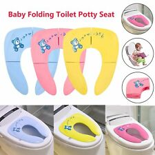 Toddlers Baby Folding Toilet Potty Training Seat Portable Travel Safe Seat Pad