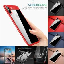 For iPhone X Case Camera Protection  Shockproof Clear Hard Soft TPU Bumper Cover