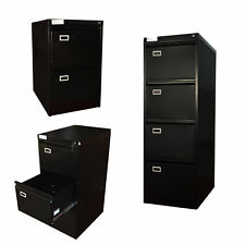 FoxHunter Steel A4 Filing Cabinet With 2 3 4 Drawer Storage Office Furniture New