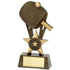 TABLE TENNIS Trophy FREE ENGRAVING Personalised Engraved Award NEW Star Bat Ball