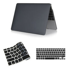 "Crystal Rubberized Laptop Case + Keyboard Cover for Macbook Pro Air 11""12""13""15"""