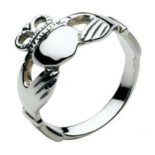New 925 Sterling Silver Irish Celtic Claddagh Ring Celtic Jewellery Gift Boxed