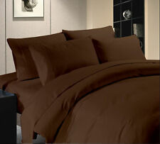 Luxury Collection 1000 TC Egyptian Cotton Chocolate Queen Size All Bedding Items