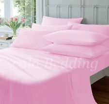 New Bed Collection Pink Solid Queen Size 1000-TC 100% Egyptian Cotton Sheet Set