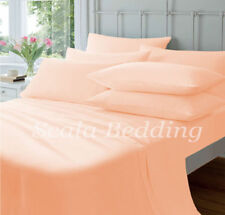 New Bed Collection Peach Solid Queen Size 1000-TC 100% Egyptian Cotton Sheet Set