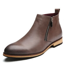 Men's Ankle Boots Zipper Non-Slip Fashion Leather Work Boots Business 70