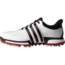 NEW MEN'S ADIDAS TOUR 360 BOOST GOLF SHOES WHITE/RED F33248/F33260- PICK A SIZE