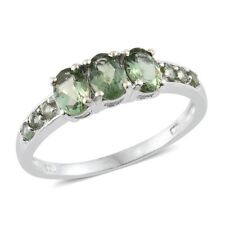 Natural Green Apatite Platinum Over Sterling Silver Ring  TGW 1.69 cts