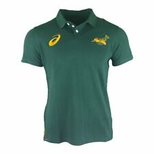 Asics South Africa Springboks Fan Rugby Polo 2017 - Bottle Green