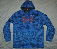Under Armour Storm Fleece Printed Big Logo Mens Hoodie 1248323 406 NWT See Sizes