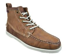 Sebago Beacon Dockside Brown Leather Womens Casual Lace Up Ankle Boots 48408