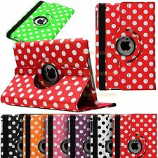 PU Leather 360° Rotating Polka Smart Stand Case Cover For iPad Air / Ipad 5