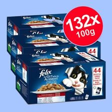 Felix As Good As It Looks Pouches In Jelly Wet Cat Food Mega Pack 132 x 100g