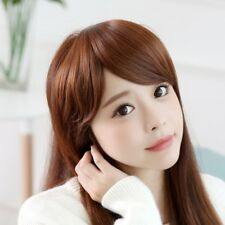 False Hair Bangs Clip In on Asymmetry Synthetic Hair Extension Natural Hairpiece