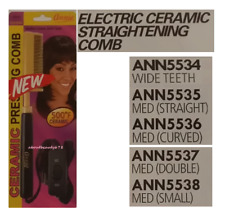 Annie Electric Ceramic Straightening Comb (5534, 5535, 5536, 5537, 5538)-F/SHIP!