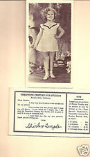 FIVE 1940'S SHIRLEY TEMPLE 20TH FOX SUDIO  POSTCARD