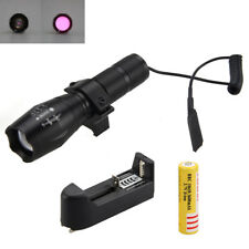 Zoom IR 850nm Night Vision Infrared LED Flashlight Torch Lamp18650 Battery Mount