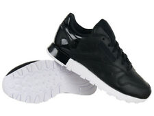 Reebok Classic Leather Matte Shine Women's Sports Sneakers Everyday Shoes Black