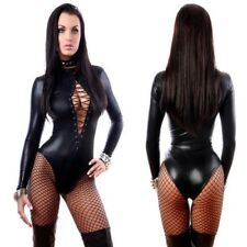 Sexy Latex Catsuit Catwomen Black Vinyl Leather Costume Rubber Bodysuits S-XXL