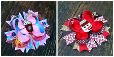 Nutella boutique hair bow or Starbucks boutique hair bow handmade