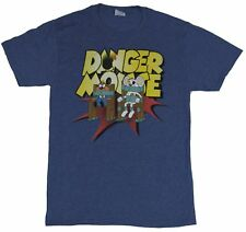 Danger Mouse Mens T-Shirt -  Danger Mouse and Penford Strapped in Trouble
