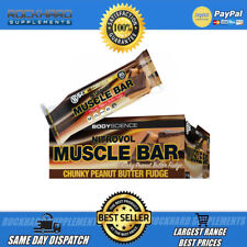 Body Science Nitrovol Muscle Bars 12 x 80g High Protein Snack Bar Low Carb BSC