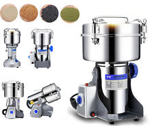 220V High Quality Grain Grinder Mill Powder Stainless Herb Pulverized Food Grade