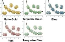 8pcs Antique Silver Tone Patina Wash Flower Puffed Tube Spacer Cross Beads Two S