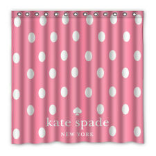 "New Kate Spade Luxury Polkadot Pink Print Custom Shower Curtain Size 60"" and 72"""