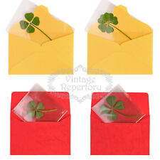 Real 4 Four-Leaf 5 Leaves Clover Bookmarks Lucky Charm for Smartphone Wallet Cas