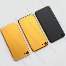 """Matte Gold Black Metal Back Rear Battery Door Housing Cover For iPhone 7 4.7"""""""